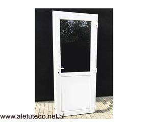 Drzwi plastikowe zewnętrzne nowe 100x210